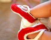 PDF Pattern For Baby Girl Crochet Booties