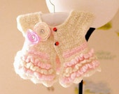 PATTERN Crochet Bolero Overcoat Jacket For Girls Baby Toddler Seamless Easy Dewdrops No:214