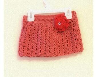 Pattern - Crochet Lace Mini Skirt for Girls, Baby, Toddler