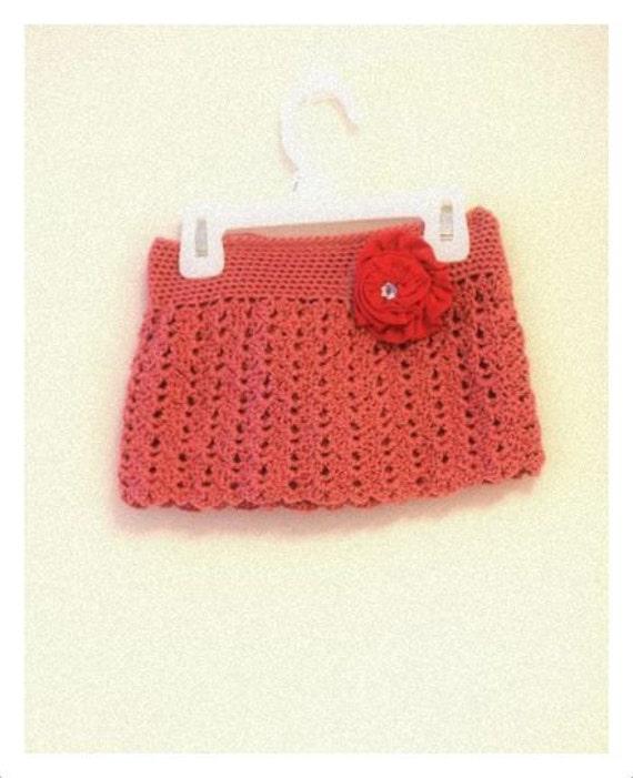 Items similar to Pattern - Crochet Lace Mini Skirt for ...