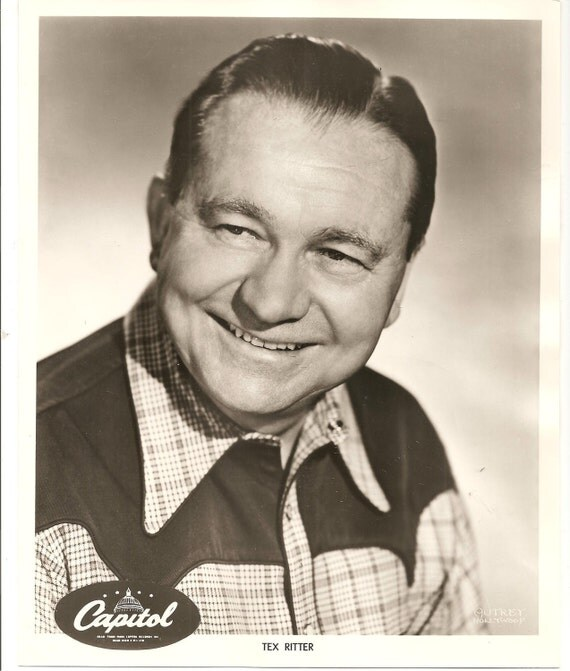 Lot of 2 1962 Autographed Publicity Photos - Tex Ritter