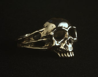 Solid Sterling Silver Skull Ring - Zombeezly -