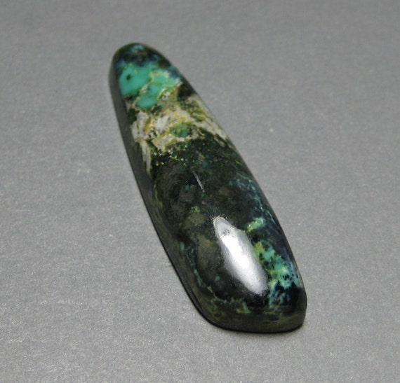 Natural Variscite Cabochon from the Blue Boy Mine, Nevada