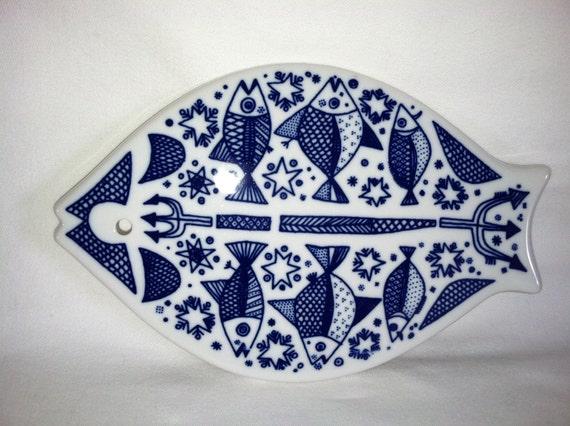 Vintage Mid Century Porsgrund Fish Trivet