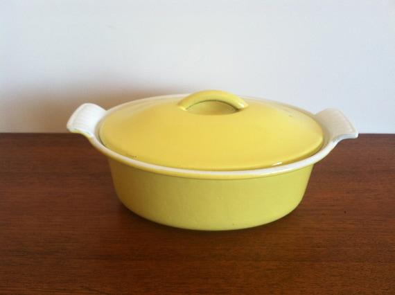 Descoware Yellow Citron Oval Casserole
