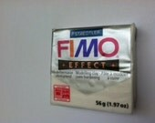 Fimo Polymer Clay - White glitter