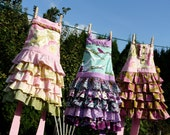 Cyber Monday Free Shipping Etsy Custom Tiered Ruffle Full Apron size 3 to 9 years