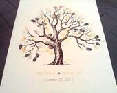 """Thumb print tree on Canvas 24""""x24"""" (CUSTOM)"""