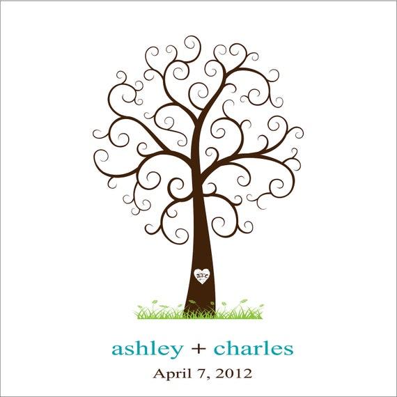 "Wedding Trees For Sale: Items Similar To Wedding Thumb Print Tree On Canvas 24""x24"