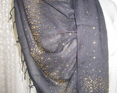 Black and gold sequin cotton scarf shawl-Womens scarves 2012 trends-Turkey Turkish Scarf evening gown- bridesmaid gifts woman scarf