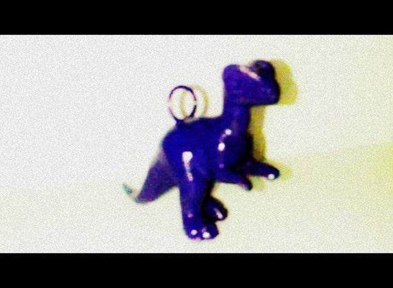 Violet Purple Dinosaur Charm FREE SHIPPING
