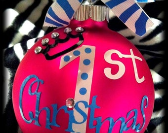 Baby's First Christmas Personalized Christmas Ornaments Made just for You