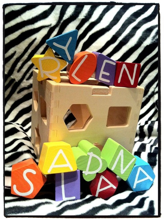 Personalized Imaginarium Wood Shape Sorting Cube