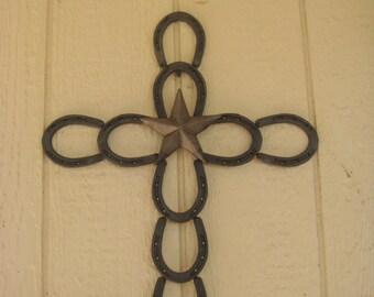 Horseshoe Cross with center star