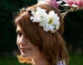 Bridal flower head wreath: Daisy