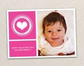 Valentine's Day Card - Valentine DIY - Photo Valentine Card - Valentine Photo Card - kids - family - DIY Printable Card Design