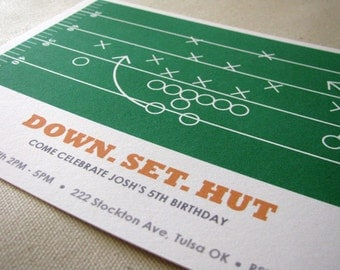 Football Invitation - Football Party - Football Birthday - Tailgate - Sports Birthday - printable party - Watch Party - Football Field