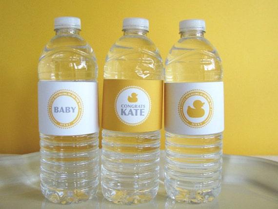 Duck Baby Shower Printable - Drink Wrap - Printable Party - rubber duck - baby shower - Its a girl - Its a boy - DIY Printable