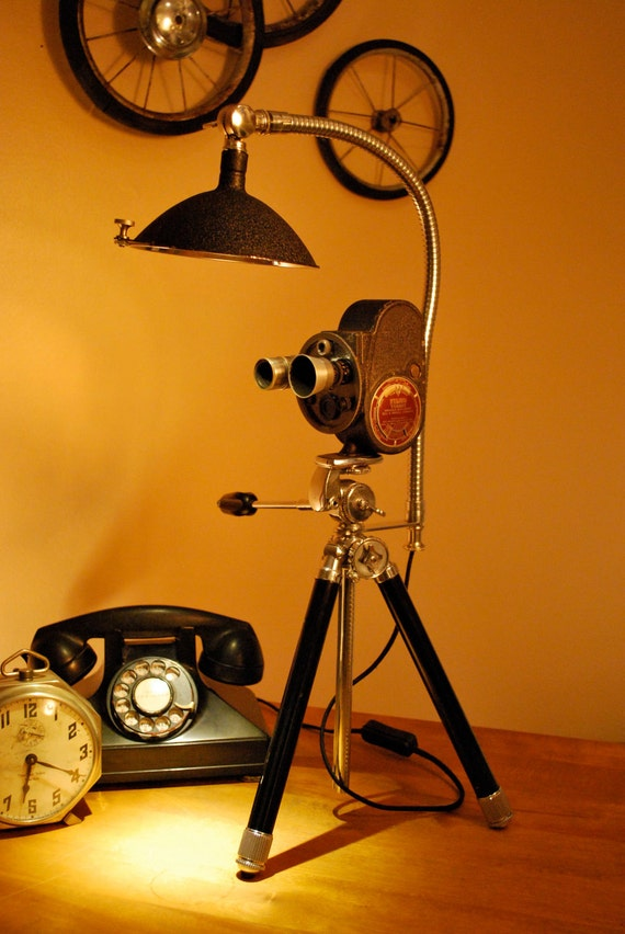 Vintage Bell And Howell 8mm Movie Camera Desk Light