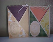 SALE SALE Set of two Thank You cards  with pull out paper.