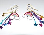 Rainbows and Stars Earrings