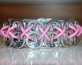 Cotton Candy  Pink  Pop Tab Bracelet -  Eco Friendly