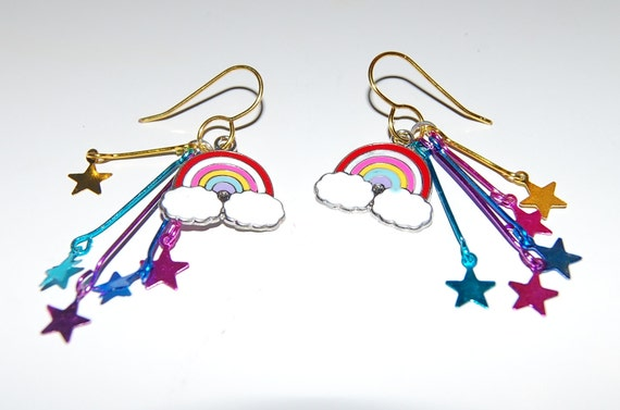 Rainbows and Stars Earrings