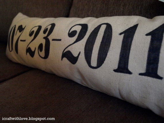 Anniversary Canvas Pillow