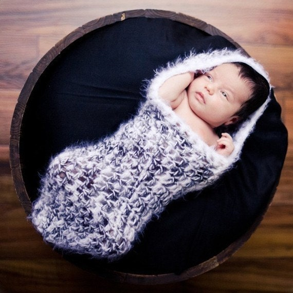 Free Crochet Pattern Hooded Cocoon : Items similar to CROCHET PATTERN - Newborn Hooded Cocoon ...