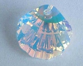 1 SWAROVSKI 6723 SHELL Crystal AB 16mm Pendant Sparkle