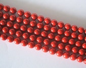 50 SWAROVSKI Crystal Pearl Beads 5810 6mm RED CORAL