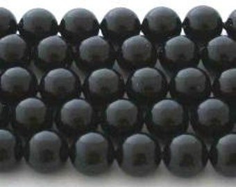 50 SWAROVSKI Crystal Pearl Beads 5810 5mm MYSTIC BLACK