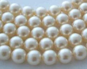 10 SWAROVSKI Crystal Pearl Beads 5810 10mm CREAM