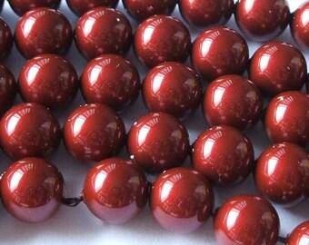 SWAROVSKI Crystal Pearl Beads 5810 BORDEAUX