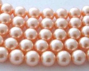 SWAROVSKI Large Hole Crystal Pearl Beads 5811 PEACH