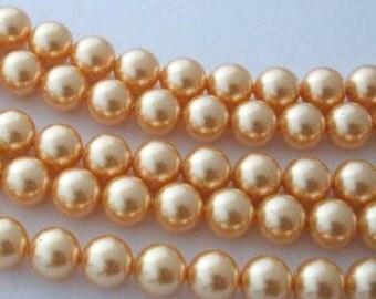 SWAROVSKI Large Hole Crystal Pearl Beads 5811 GOLD