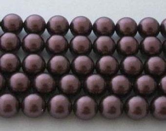 SWAROVSKI Large Hole Crystal Pearl Beads 5811 BURGUNDY