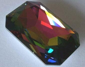 1 SWAROVSKI 4627 Octagon Crystal Cabochon Fancy Stone VITRAIL MEDIUM