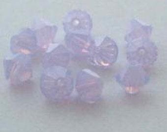 144 SWAROVSKI 5301 Bicone Crystal Beads 4mm VIOLET OPAL