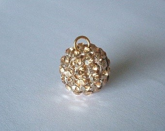 1 SWAROVSKI 40515 Crystal Mesh Ball Pendant 15mm GOLDEN SHADOW