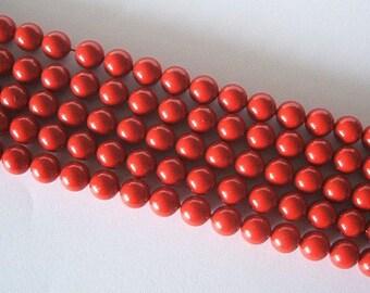 5 SWAROVSKI Crystal Pearl Beads 5810 12mm RED CORAL
