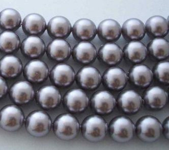4 SWAROVSKI Large Hole Crystal Pearl Beads 5811 12mm MAUVE