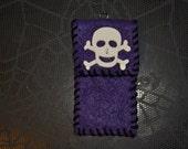 Purple Eco fi Felt Lip Balm holder clip on