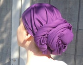 Purple Head Scarf /Headcovering