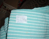 """Free shipping coupon code, Vintage Cotton mix 3 yards piece, blue & white strips morroco style, 3.25 yard L X 38"""" W"""