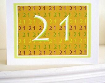 21 Birthday, Happy Birthday