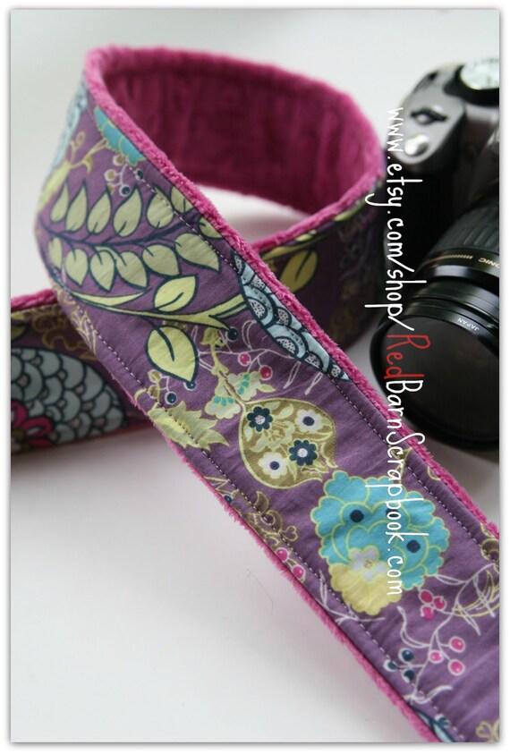 Moorish Bloom Minky Camera Strap DSLR SLR