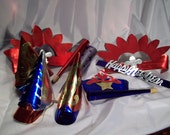 9 Vintage New Years Celebration Essentials Cobalt Blue Red And Silver