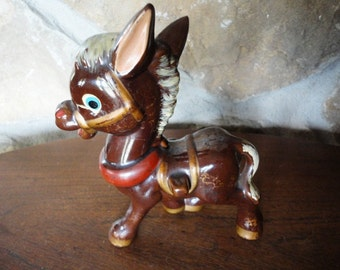 Ceramic donkey by Dee Bee Co., Hand painted Japan, Original Dee Bee, Burro Figurine, Made in Japan