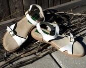 Vintage 80's Italian Leather Sandals